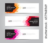 vector abstract design banner... | Shutterstock .eps vector #657968569