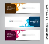 vector abstract design banner... | Shutterstock .eps vector #657968596