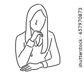 businesswoman is sitting and...   Shutterstock .eps vector #657970873