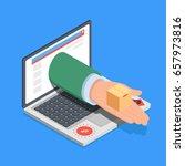 concept of online shopping ... | Shutterstock .eps vector #657973816