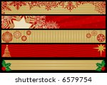five christmas web banners.... | Shutterstock .eps vector #6579754