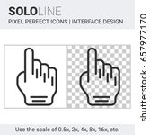 pixel perfect solo line hand...