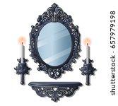set of elements vintage... | Shutterstock .eps vector #657979198