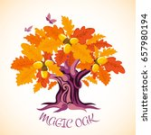 autumn background. fairy tale...   Shutterstock .eps vector #657980194