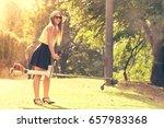 feminine fun outdoor concept.... | Shutterstock . vector #657983368