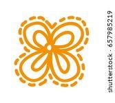 sketch draw flower cartoon... | Shutterstock .eps vector #657985219