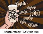 coffee labels set. paper coffee ... | Shutterstock .eps vector #657985408