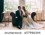 bride and groom  the bride and... | Shutterstock . vector #657986344
