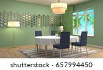 interior dining area. 3d... | Shutterstock . vector #657994450