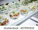 packed salad  | Shutterstock . vector #657994510
