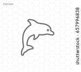 dolphin vector icon | Shutterstock .eps vector #657996838