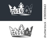 vector image of heraldic crown. | Shutterstock .eps vector #658000663