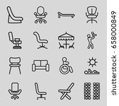 chair icons set. set of 16... | Shutterstock .eps vector #658000849