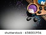 spa concept background on black ... | Shutterstock . vector #658001956