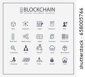 blockchain web icon set.... | Shutterstock .eps vector #658005766