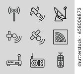 wireless icons set. set of 9... | Shutterstock .eps vector #658006873