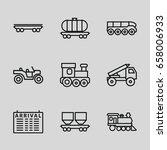 train icons set. set of 9 train ... | Shutterstock .eps vector #658006933