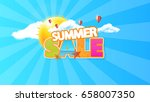 summer sale quality vector... | Shutterstock .eps vector #658007350
