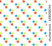 pattern with stars  seamless ... | Shutterstock .eps vector #658008244