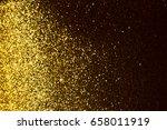 golden glitter texture... | Shutterstock . vector #658011919