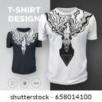 abstract modern t shirt print... | Shutterstock .eps vector #658014100