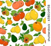 fruit berry seamless pattern  ... | Shutterstock .eps vector #658014958