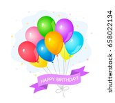 greeting card with a set of... | Shutterstock .eps vector #658022134