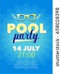vertical blue pool party... | Shutterstock .eps vector #658028398