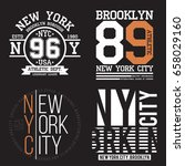 new york  brooklyn typography... | Shutterstock .eps vector #658029160