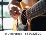 a male musician is playing... | Shutterstock . vector #658032520
