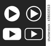 button  icon. vector... | Shutterstock .eps vector #658033513