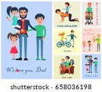 happy life moments with father... | Shutterstock .eps vector #658036198