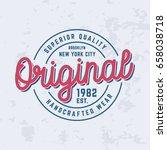 original logo t shirt design.... | Shutterstock .eps vector #658038718