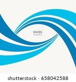 water wave logo abstract design.... | Shutterstock .eps vector #658042588