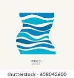 water wave logo abstract design.... | Shutterstock .eps vector #658042600