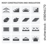 roof construction and... | Shutterstock .eps vector #658046170