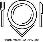 plate outline icon | Shutterstock .eps vector #658047280