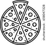 pizza outline icon | Shutterstock .eps vector #658047328