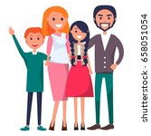 poster devoted to parents' day... | Shutterstock .eps vector #658051054