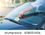 ticket fine because of parking ... | Shutterstock . vector #658051456