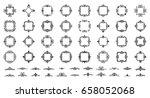 retro rosette and victorian... | Shutterstock .eps vector #658052068