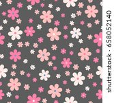 seamless cute floral pattern.... | Shutterstock .eps vector #658052140
