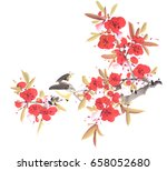 traditional chinese painting of ... | Shutterstock . vector #658052680