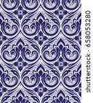 vector damask seamless pattern | Shutterstock .eps vector #658053280