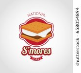 national s'mores day | Shutterstock .eps vector #658054894