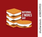 national s'mores day | Shutterstock .eps vector #658054903