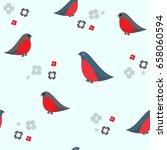 seamless pattern with cartoon...   Shutterstock .eps vector #658060594