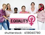 diverse woman together with... | Shutterstock . vector #658060780