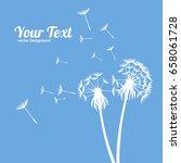 dandelion fluffy flower and... | Shutterstock .eps vector #658061728