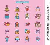 wedding icons | Shutterstock .eps vector #658065754